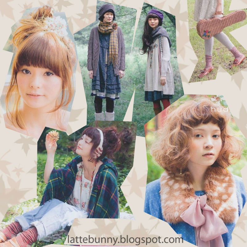 3aef6641d352 Latte Bunny  Mori ( forest ) girl   森ガール fashion shopping sites.
