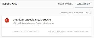Mengatasi Url Tidak Tersedia Google Search Console