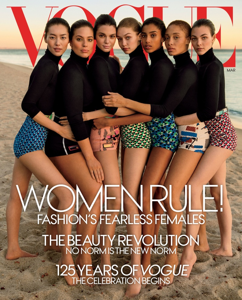 Fashion's fearless females cover Vogue US March 2017