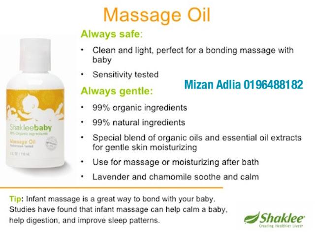 Baby Shaklee Massage oil