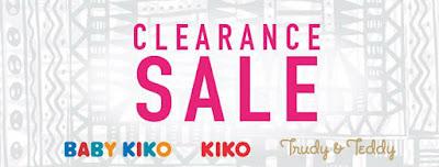 KIKO, BABY KIKO and Trudy & Teddy Clearance Sale