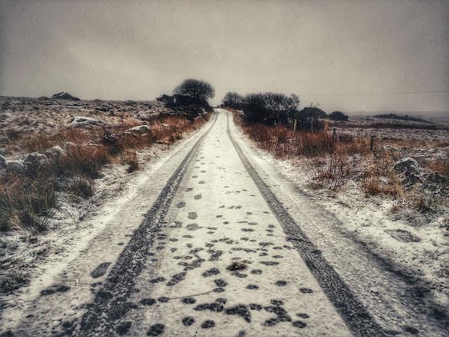 Connemara landscape, winter, snow