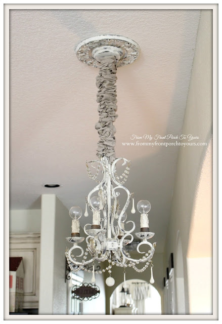 Kitchen Chandelier- Sink Chandelier-French Farmhouse-French Chandelier-From My Front Porch To Yours