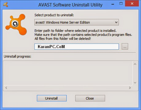 AVAST Software Uninstall Utility 2015