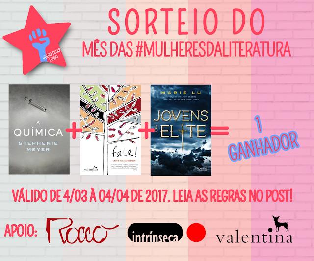 Promoções do Mês das #MulheresdaLiteratura
