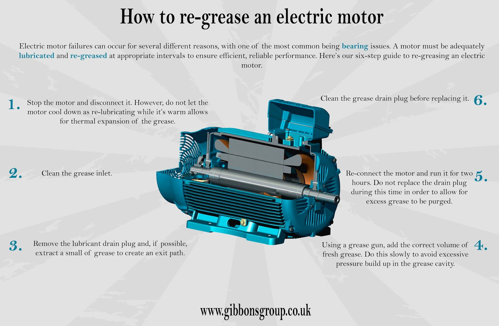medium resolution of how to re grease an electric motor