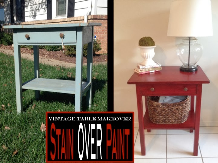 Two It Yourself Antique Painted Table Using Stain Over