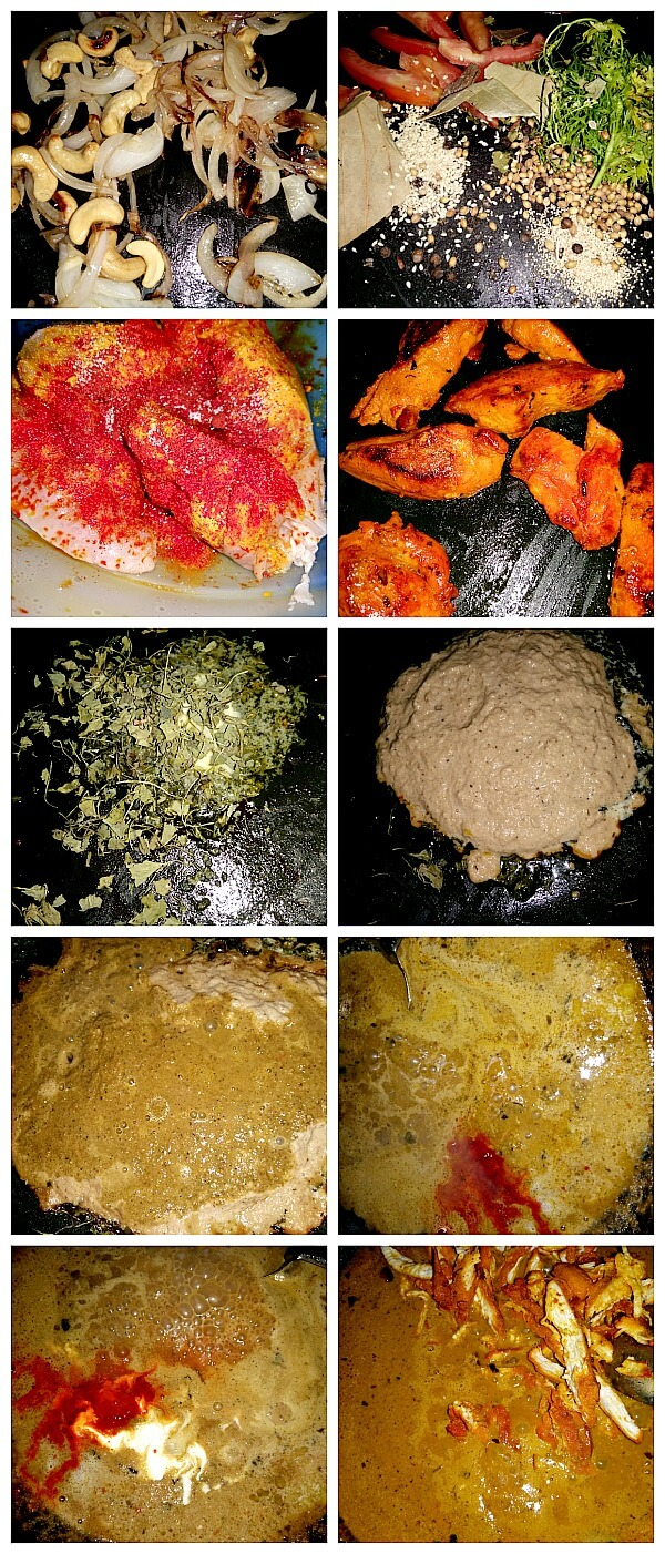 Step by Step Pictures of how to make Butter Chicken /Restaurant style Murgh Makhani