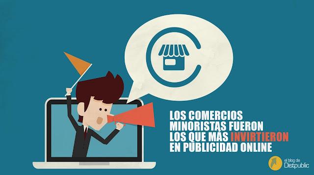 Publicidad online, inversión, comercios minoristas