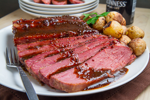 Guinness Glazed Slow Cooker Corned Beef