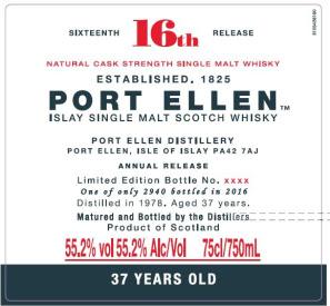Port Ellen 16th release 1978 Special Releases 2016