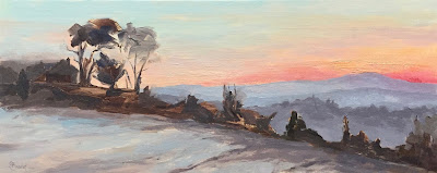 #148 'Frosty Morning, Surrey Hills' 8×19.5″