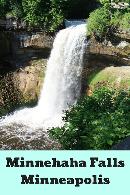 Minnehaha Falls in Minneapolis, Minnesota offers a nature respite