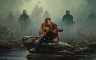 Ellie suona la chitarra in un vecchio artwork dedicato a The Last of Us Part II