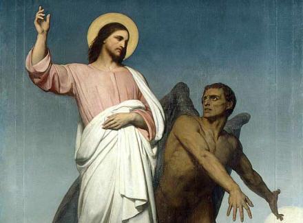 Resultado de imagem para jesus tentado no deserto pelo diabo