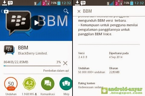 Free download official BBM for Android v.2.4.0.8 .APK FULL Final Install File