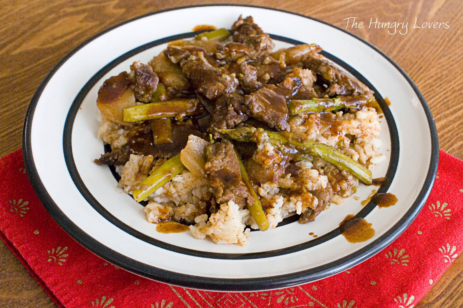 Beef and Asparagus in Black Bean Sauce