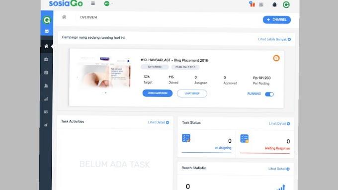 Cara Daftar IBlogMarket (Sosiago) Terbaru 2018 Setelah Di Update Dan Cara Menambahkan Channel Untuk Menghasilkan Pundi-Pundi Uang
