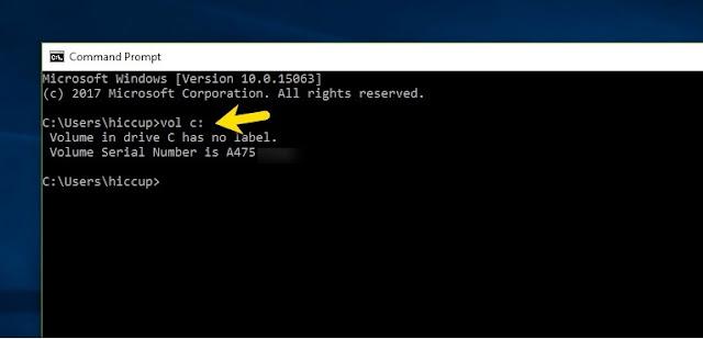 معرفة السيريال نمبر للهارد ديسك بدون اى برامج!
