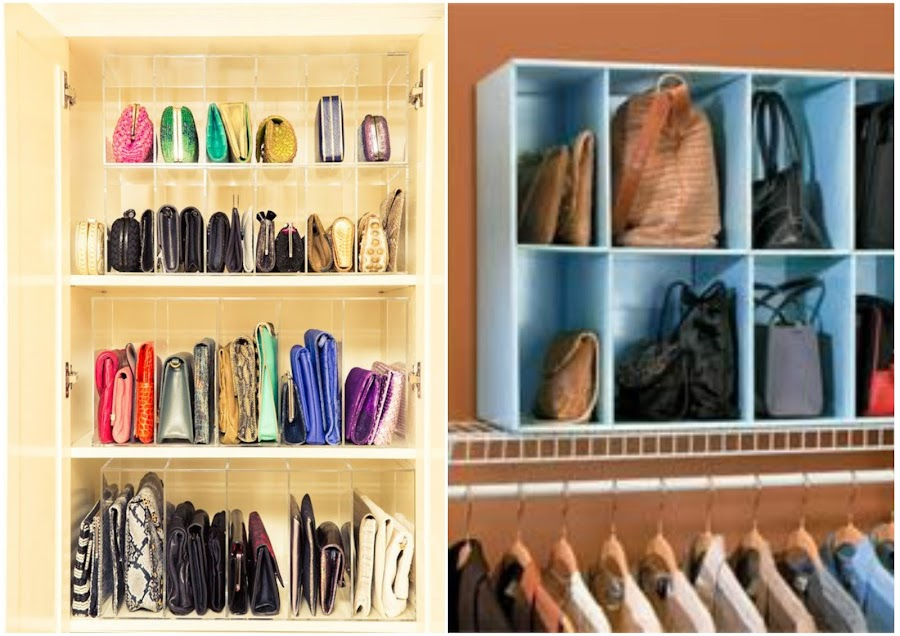 10 maneras ingeniosas de c mo organizar bolsos y carteras en casa manualidades - La casa de los bolsos ...