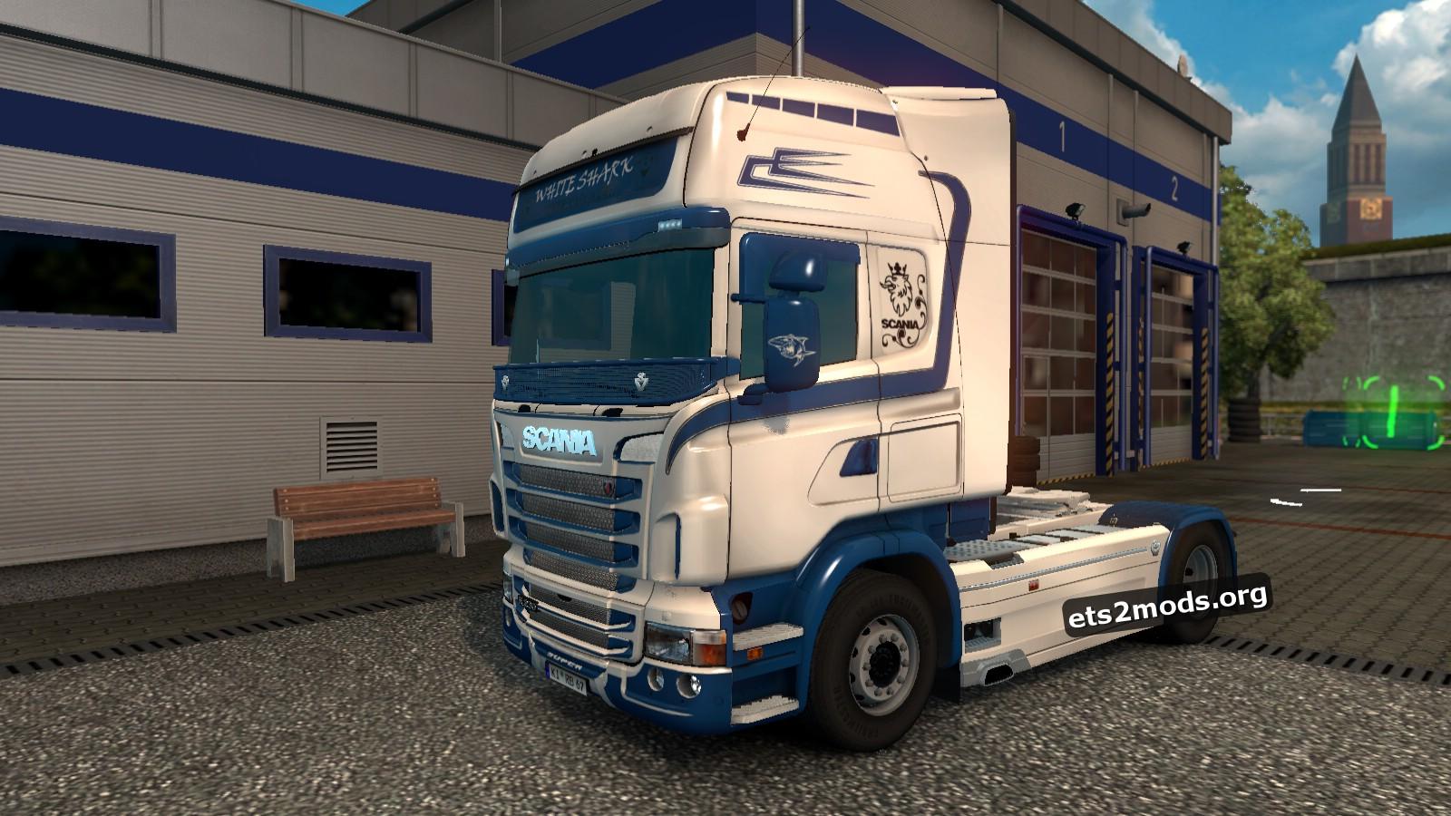 White Shark Skin for Scania RJL