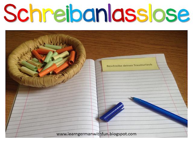 Tolle Ideen, Schreibanlässe kreativ im Unterricht einzusetzen.
