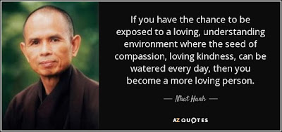 Quotes About Love Dating: If you have the chance to be exposed to a loving, understanding environment where the seed of compassion, loving kindness, can be watered every day, then you become a more loving person.