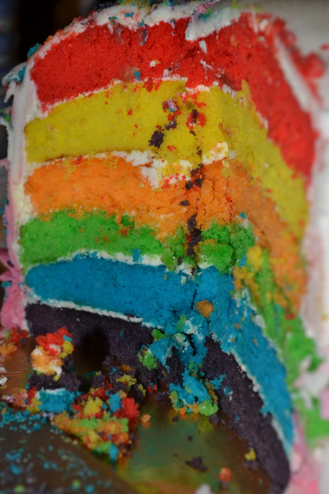 Deezert Ombre Rainbow Ruffle Cake