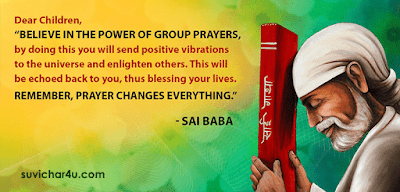 Believe in the power of group prayers.