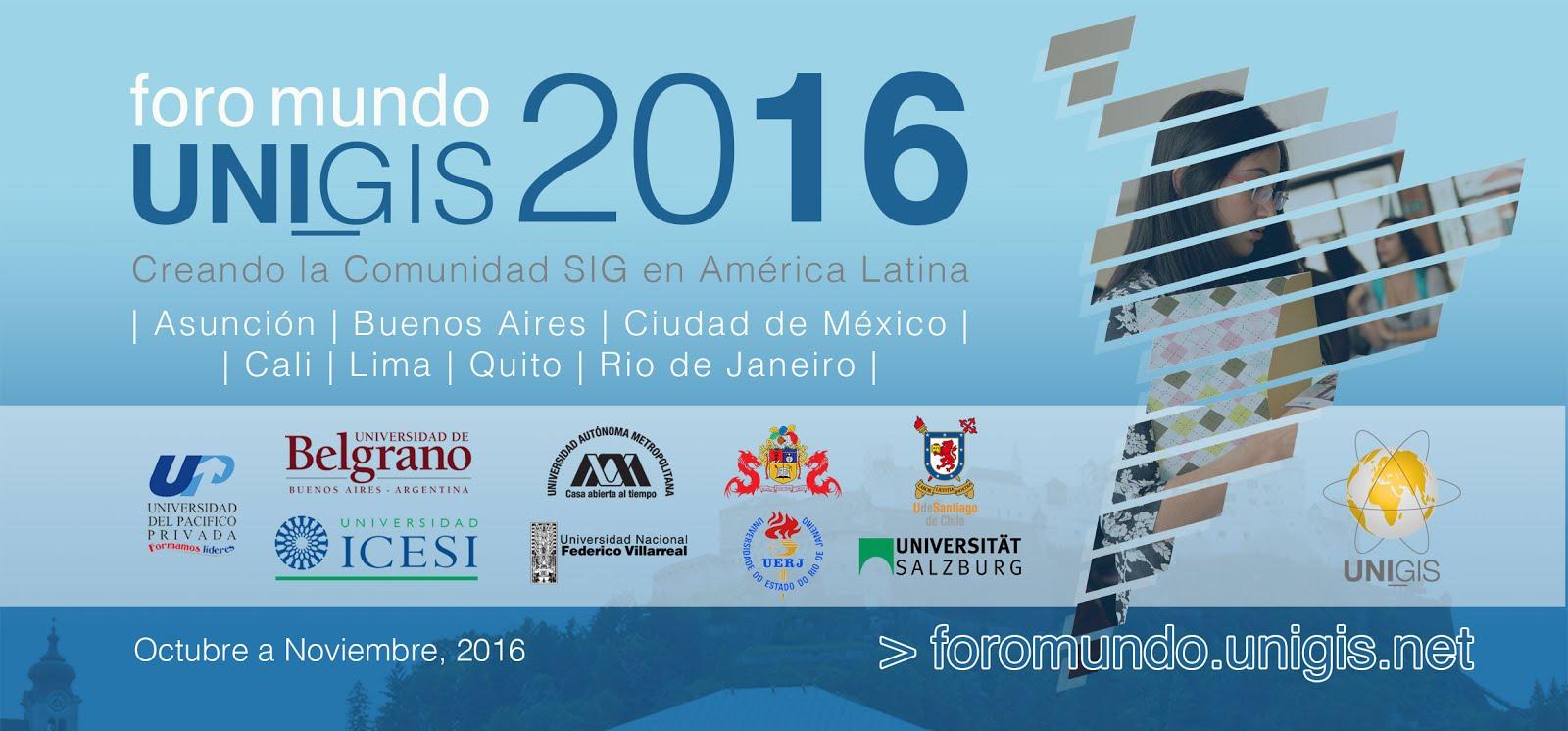 Foro mundo UNIGIS Quito 2016