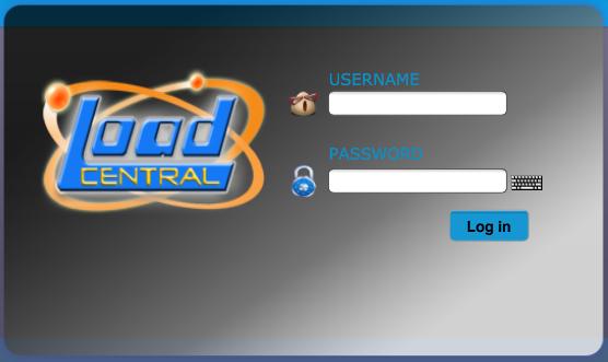 LoadCentral Webtool Log-in, e-LoadBiz