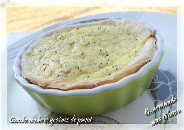 chaussons au crabe et graines de pavot... ou version quiche