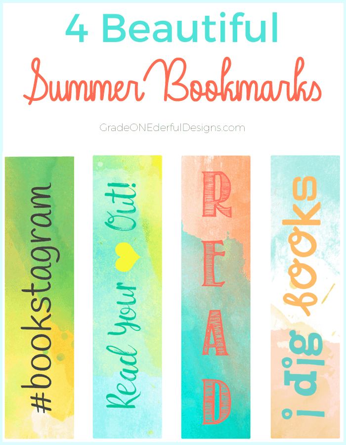 4 free and beautiful summer bookmarks