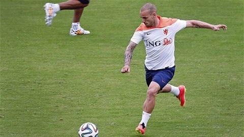 Sneijder chơi rất quyết liệt trong mỗi trận đấu