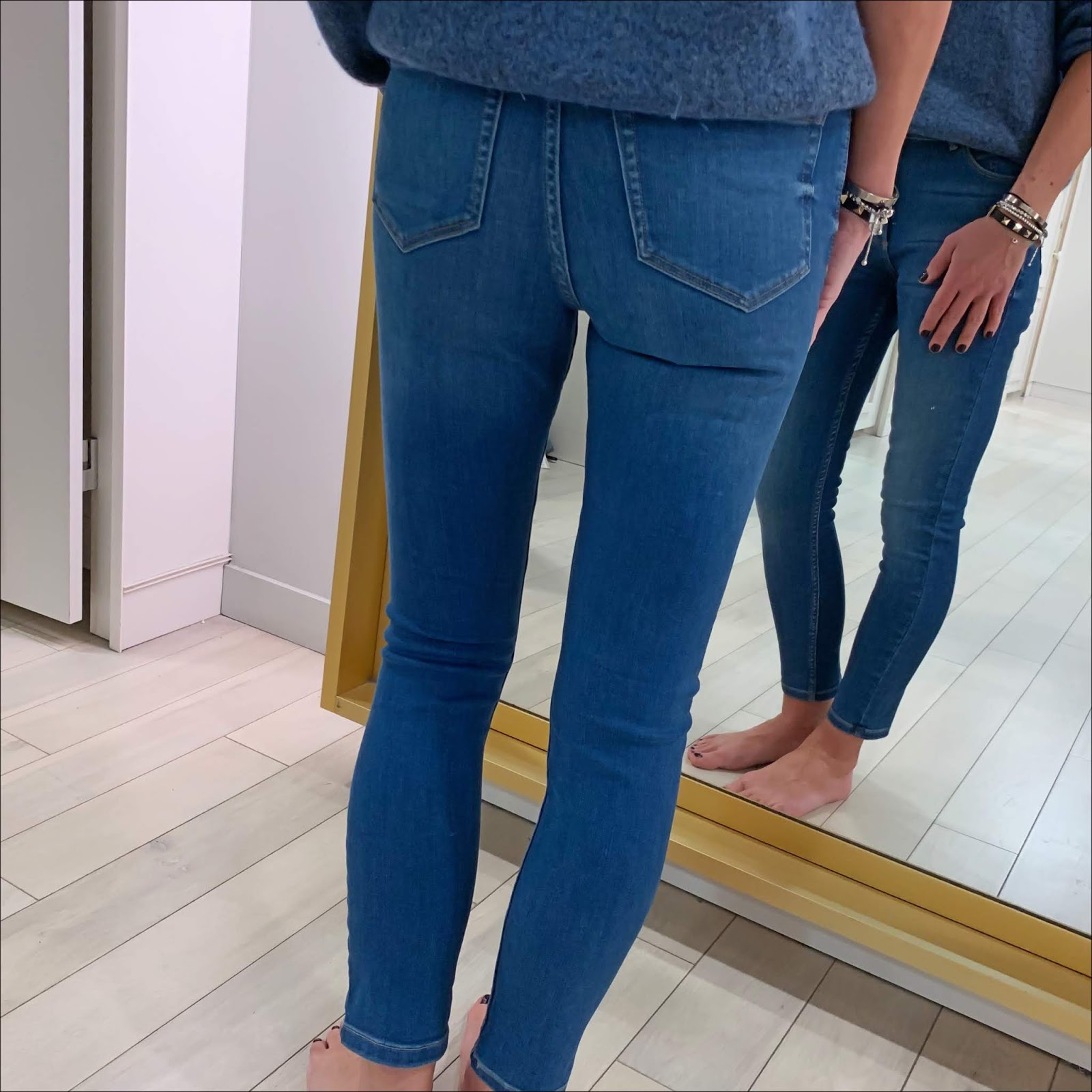 my midlife fashion, marks and spencer sculpt and lift roma rise skinny leg jeans