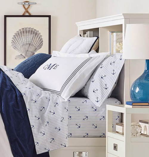 Nautical Anchor Motif Bedding Sheets Idea