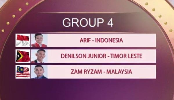 urutan tampil grup 4 top 15 da asia 4