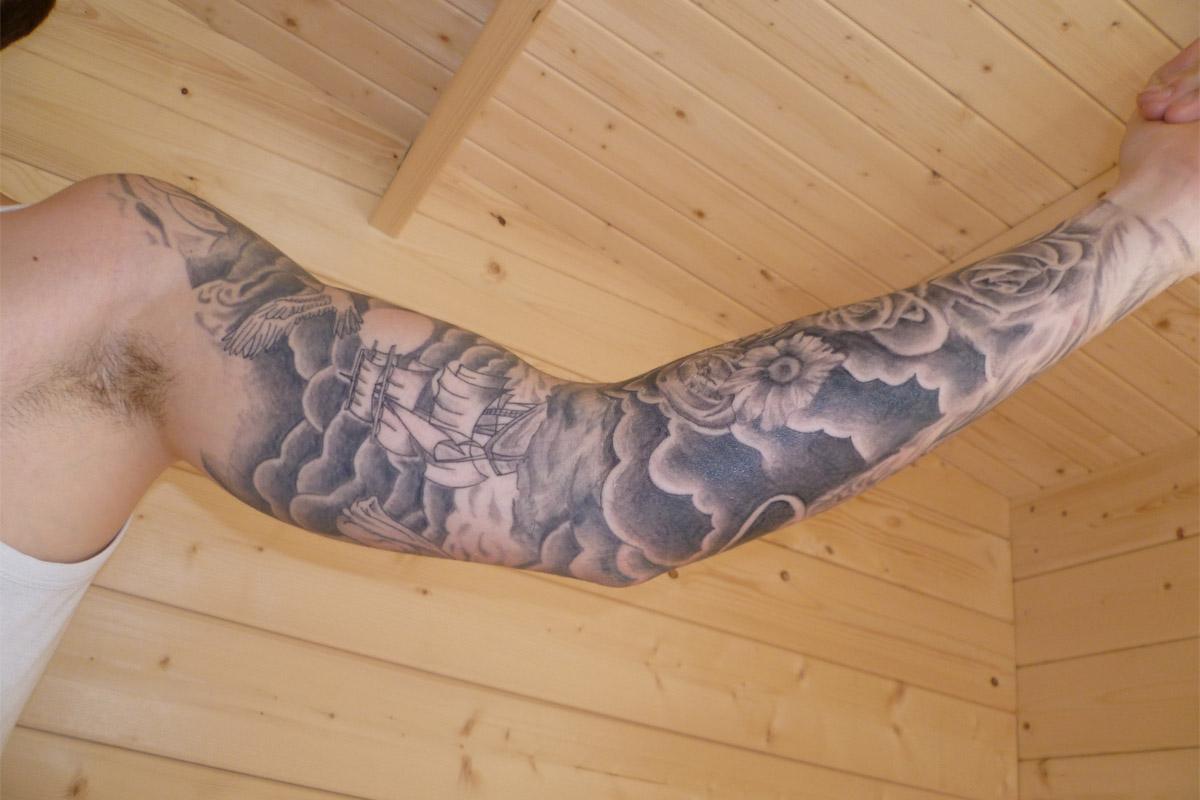 sleeve tattoo ideas cloud sleeve tattoo. Black Bedroom Furniture Sets. Home Design Ideas