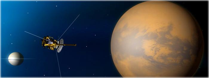Cassini faz ultimo sobrevoo em Titã, e começa seu Grand Finale