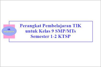 Perangkat Pembelajaran TIK Kelas 9 SMP/MTs Semester 1-2 KTSP