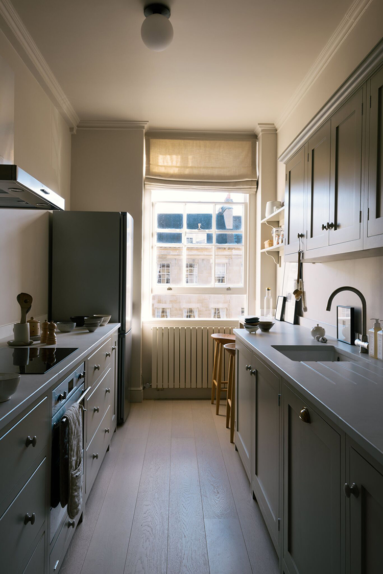 Small Galley Kitchen With Bespoke Breakfast Nook My