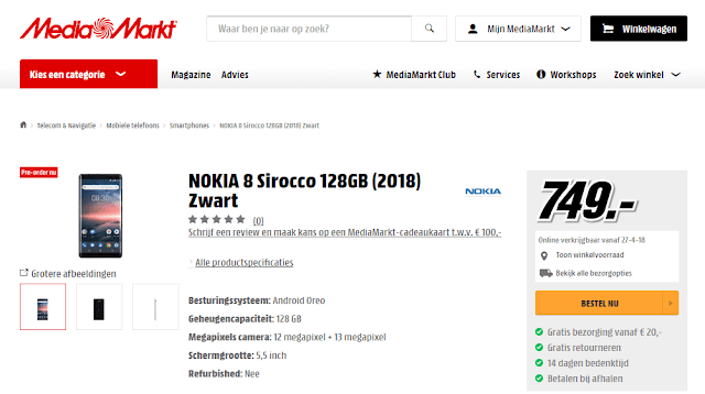 Nokia 8 pre-order begins in Netherlands