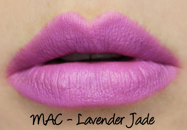 MAC Lavender Jade lipstick swatches & review