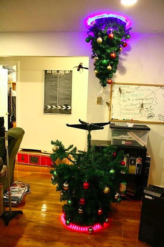 árvore de natal futurista