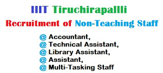 IIIT Tiruchirappalli Recruitment Notification 25.10.2017