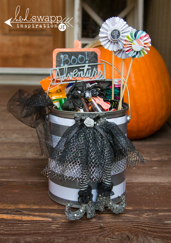 Halloween You've Been Booed Bucket @heidiswapp @createoften #halloween #boo #diy #party #hsSeptemberSkies