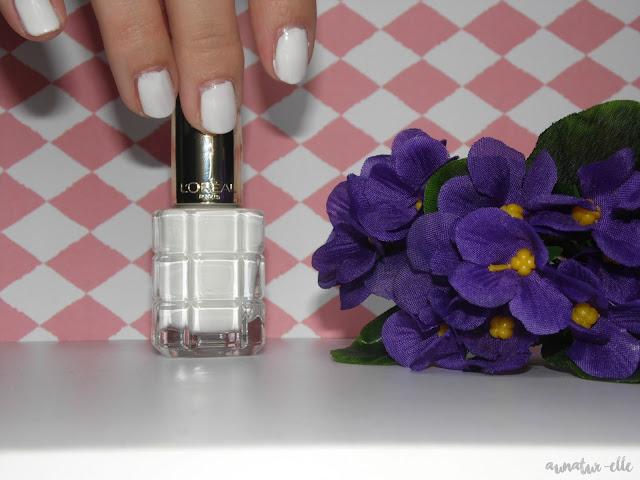 white nailpolish l'oréal