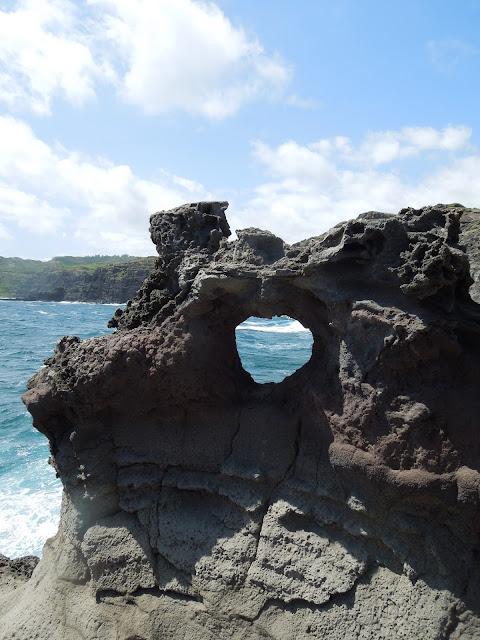heart shaped hole in rock