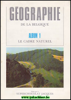 ( LOT) Géographie de la Belgique, album 1-2-3-4, année 1962