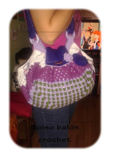 Un Poquito de Todo: Bolso balón crochet